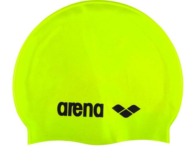 arena Classic Silicone Czapka, acid lime-black